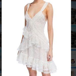 ALEXIS Ladonna Asymmetrical Lace Mini Dress